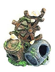 Aquário Decoração Ornamentos Tubos e Túneis Atóxico & Sem Sabor Resina Marrom
