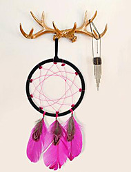 2PC Dream Catcher Decor Hanging With Feathers Hanging Decoration Dreamcatcher Net India Style Hourse Decoration  Luminous