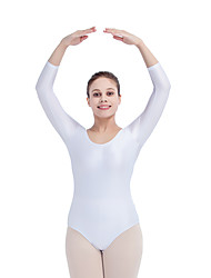 Ballet Leotards Women's Children's Training Nylon Lycra 1 Piece 3/4 Length Sleeve Leotard
