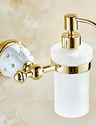 Antique Brass Wall-mounted  Bathroom Accessories Soap Dispenser
