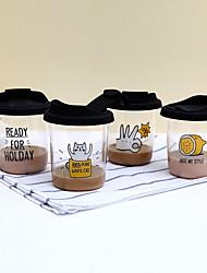 Transparente Dessin Animé Articles pour boire,300 Portable Sans BPA Silicone Café Eau Tumbler