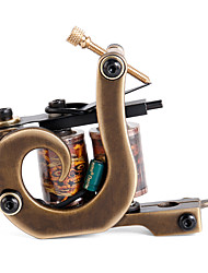 Solong Tattoo Custom Brass Tattoo Machine Gun Handmade 12 Wrap Pure Copper Coils for Shader M207-2