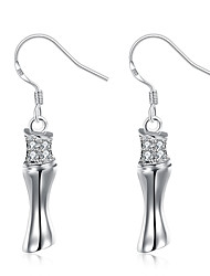 lureme Fine Jewelry 925 Sterling Silver Fashion Charms Diamond Earrings