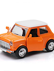 Voiture Classique Jouets Jouets de voiture 1:28 Métal Plastique Orange Maquette & Jeu de Construction