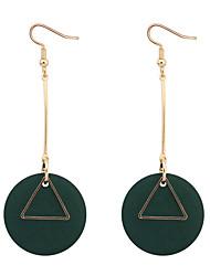 Серьги-слезки Серьги-кольца Медь Дерево Простой стиль Мода Черный Красный Зеленый Бижутерия Повседневные 1 пара