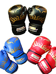 Boxing Gloves Full-finger Gloves Unisex Breathable Wearable Tactical Protective Boxing PU Red Black Blue