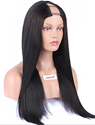 Middle Side Part Wigs Brazilian Hair Upart Wig Straight U Part Human Hair Wigs 8A Unprocessed Remy Virgin Hair U Part Wig Cheap