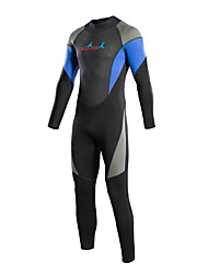 Bluedive Women's Men's 3mm Full Wetsuit Thermal / Warm Quick Dry YKK Zipper Compression Full Body Nylon Neoprene Diving Suit Long Sleeve