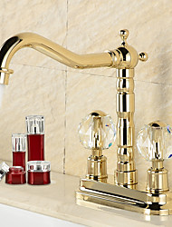 New Gold / Retro Bathroom Basin Faucet Hot And Cold Water Faucet 360 Degree Rotation