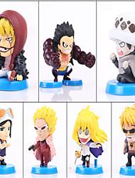 Figures Animé Action Inspiré par One Piece Monkey D. Luffy PVC 5 CM Jouets modèle Jouets DIY