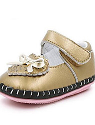 Mädchen-Loafers & Slip-Ons-Lässig-PUKomfort-Rosa Weiß Gold