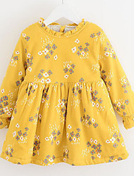 Girl's Going out Casual/Daily Holiday Plaid Jacquard Dress,Cotton Cotton Blend Winter Spring Fall Long Sleeve