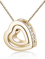 Heart necklace in the rain love diamond necklace with heart necklace couples mutual affinity to revolve 0377 #
