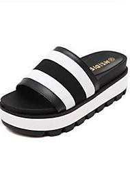 Cheap Summer Korean version spell color thick crust muffin beach sandals high-heeled sandals