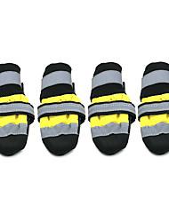 Собаки Ботинки и сапоги Носки Мода Водонепроницаемый Сохраняет тепло Цветовые блоки Желтый Красный Нейлон Полиуретановая кожа
