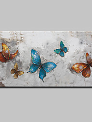 Hand Painted Animal Butterfly Oil Painting On Canvas Modern Abstract Wall Art Pictures For Wall Decoration Ready To Hang