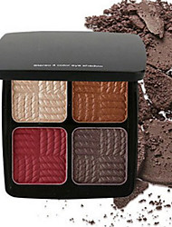 Professional 4 Colors Eyeshadow Palette Glamorous Smokey Eye Shadow Shimmer Colors Makeup Kit by Focallure