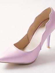 Women's Heels Spring Fall Comfort Leatherette Office & Career Party & Evening Dress Stiletto Heel Green Purple Beige
