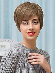 uniques couches légèrement texture courte capless perruques ombre humaine naturelle droite mélanges cheveux 2017