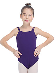 Ballet Leotards Women's Children's Training Cotton Lycra Pleated 1 Piece Sleeveless Leotard