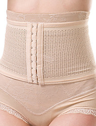Women's Sexy Maternity Postpartum Slimming Underwear Corset Girdle Hook Belt Waist Nylon Beige
