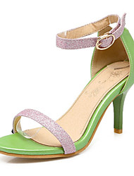 Women's Heels Spring Club Shoes Comfort Leatherette Wedding Office & Career Party & Evening Dress Stiletto Heel Bowknot Yellow Pink White