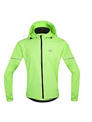 SANTIC Cycling Jacket Men's Long Sleeve Bike Waterproof Windproof Raincoat/Poncho Windbreakers Jersey Tops 100% PolyesterSpring Summer