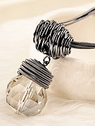 Women's Choker Necklaces Crystal Alloy Single Strand Basic Simple Style Translucent Jewelry Daily Casual 1pc
