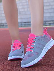 flats conforto queda verão solas leves tecido atlético ocasional rosa roxo
