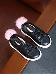 Girl's Flats Comfort Leather Outdoor Casual Athletic Black White Running