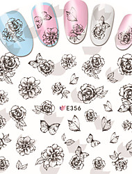 1 pcs Hand Painted Butterfly Nail Stickers
