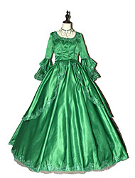Steampunk® Women's Prom Gothic Brocade  Marie Antoinette Gown with Bows- Custom