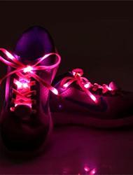 1 par luminosos cadarço brilho ocasional levou sapatos cordas atléticas cadarços de campismo sapatos de festa para o cultivo de sapatos de