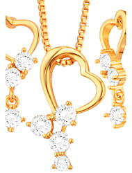 Jewelry Necklaces / Earrings AAA Cubic Zirconia Wedding / Party / Daily 1set Women Gold Wedding Gifts