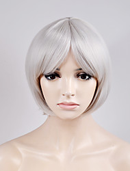 Europe and the United States new short paragraph BOBO head in the silver high temperature wire wig