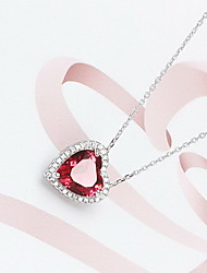 Necklace Non Stone Pendant Necklaces Jewelry Daily Casual Christmas Gifts Heart Heart Fashion Sterling Silver Women 1pc GiftAs Per