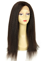 Kinky Straight Hair Human Hair Brazilian Virgin Hair 8a Unprocessed Virgin human Wig Kinky Straight Hair with Natural Hairline Front Lace Human wig