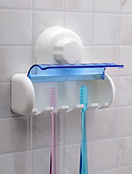 1Pcs   Dust-Proof Toothbrush Holder For The Bathroom Kitchen Family Holder For Toothbrushs Suction Holder Wall Stand Hook 5 Racks