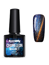 Vernis Gel UV 10ml 1 Magnétique Soak Off Paillettes Gel de Finition UV Néon & Brillant Scintillant Brillance & étincelle TransparentFaire