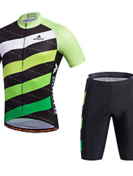 Miloto Cycling Jersey with Shorts Men's Short Sleeve BikeBreathable Quick Dry Moisture Permeability Lightweight Materials 3D Pad