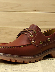 Men's Boat Shoes Spring Summer Fall Winter Comfort Nappa Leather Outdoor Office & Career Casual Party & Evening Brown