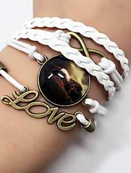Bracelet Leather Bracelet Wrap Bracelet Leather Animal Shape Horse Love Handmade Bohemia Anniversary Birthday Gift Sports Valentine