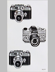 Fashion Tattoo  Camera Waterproof Tattoo Stickers