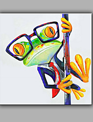 Hand-Painted Abstract Animal Square Modern One Panel Canvas Oil Painting For Home Decoration