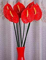 1 Branch 1 Head Anthurium Artificial Flowers