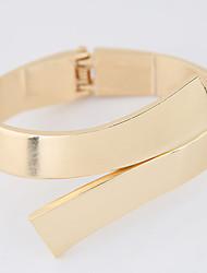 Feminino Bracelete Liga Moda Cinzento Dourado Jóias 1peça