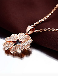 Pendants Rose Gold 18K gold Alloy Basic Unique Design Flower Style Love Fashion Gold Jewelry For Daily 1pc