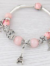 Bracelet Charm Bracelet Alloy Resin Leaf Tower Fashion Jewelry Gift 1pc
