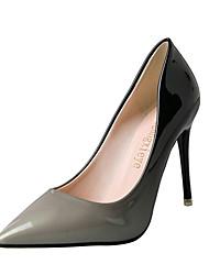 Women's Heels Spring Comfort PU Outdoor Stiletto Heel Red Light Grey Walking
