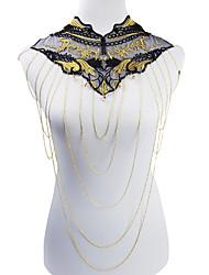 Bijoux de Corps/Chaîne de Corps Collier de Ventre Alliage Dentelle Forme de Fleur Mode Bohemia style Doré 1pc